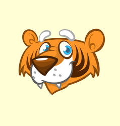 cartoon tiger head icon vector image