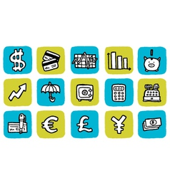 icon finance vector image vector image