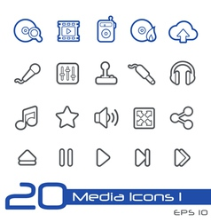 Media entertainment outline series vector