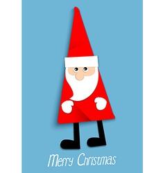 Paper Santa Claus vector image vector image