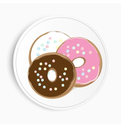 Serving of delicious doughnuts vector image