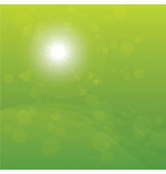 Bright Sun Burst Green Background vector image vector image