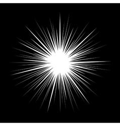 Classic style retro starburst on black background vector