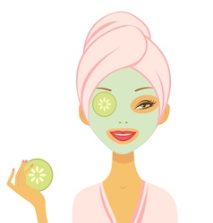 Cucumber mask vector image