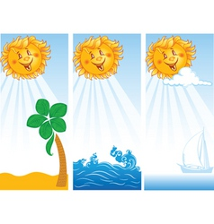 banners with sun vector image vector image