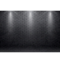 Brick wall black background with spot light 10 eps vector