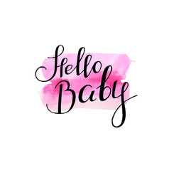 greeting card for newborn baby girl shower party vector image
