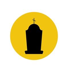 Headstone silhouette vector
