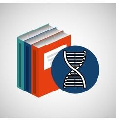 library books school science structure molecule vector image