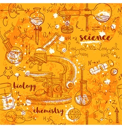 seamless pattern old chemistry laboratory vector image