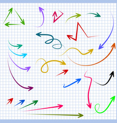 abstract arrows in doodle style for concept vector image