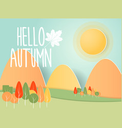 abstract autumn nature background paper art vector image