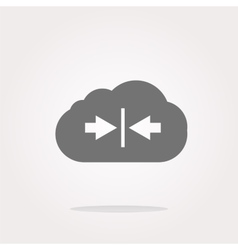 abstract cloud icon Upload button Load symbol vector image
