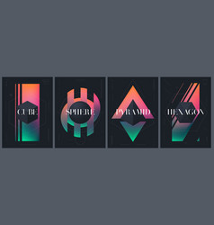 Abstract creative templates with various vector