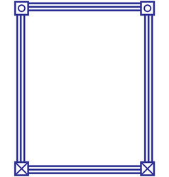 American classic blue frame vector