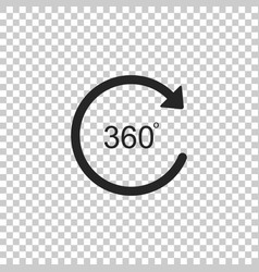 angle 360 degrees icon rotation of 360 degrees vector image
