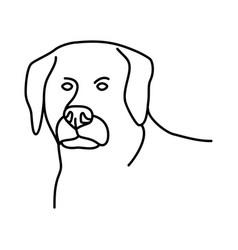 animal dog icon design clip art line icon vector image