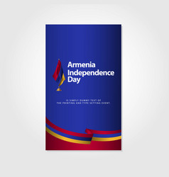 Armenia independence day template design vector