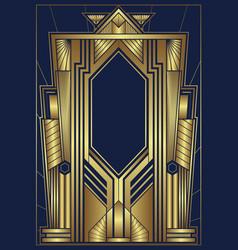 art deco city gold vector image