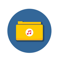 Audio music folder archive icon graphic vector