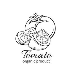 badge tomato vector image