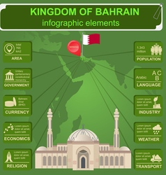 Bahrain infographics statistical data sights vector