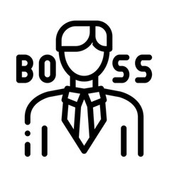 boss silhouette icon outline vector image