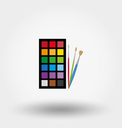 Brushes and paints vector