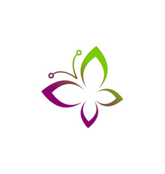 Butterfly abstract beauty logo vector
