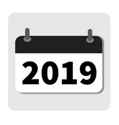 Calendar icon 2019 new year 2019 2019 icon for vector