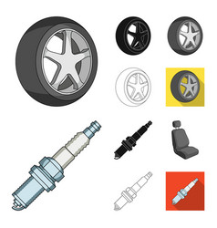 car vehicle cartoonblackflatmonochromeoutline vector image