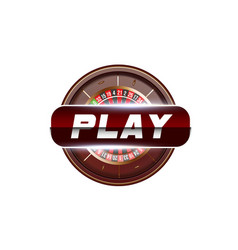 casino play button concept isolated on white vector image