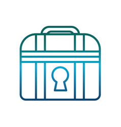 Chest icon image vector