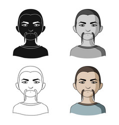chinesehuman race single icon in cartoon style vector image