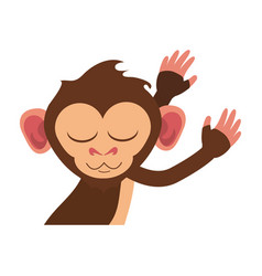 Cute expressive monkey cartoon icon imag vector