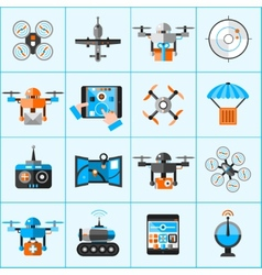Drone Icons Set vector