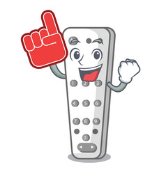 foam finger cartoon remote control of air vector image