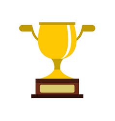 Gold cup icon flat style vector