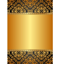 golden background with baroque ornaments vector image