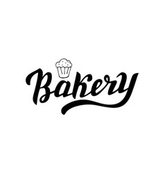 Hand written bakery logo simple and trendy vector