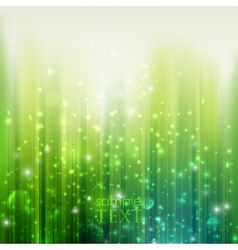 holiday green background with sparkles vector image