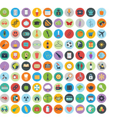 icon set sign and symbols clip art icons vector image