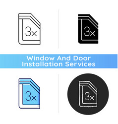 insulated glass windows icon vector image