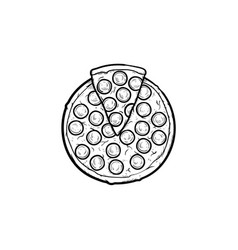 italian pizza hand drawn sketch icon vector image
