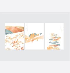 japanese background with natural landscape art vector image