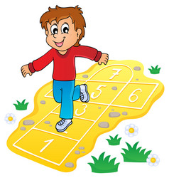 Kids play theme image 8 vector