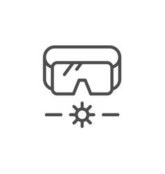 laser radiation line icon vector image