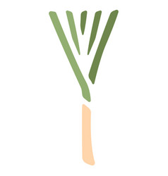 Leek flat icon vector