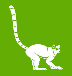 Lemur monkey icon green vector