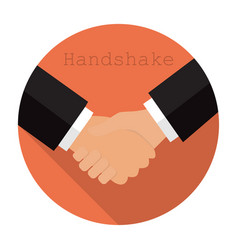 logo shaking hands in a flat style vector image